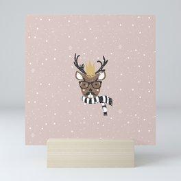 Holiday Deer Illustration Mini Art Print