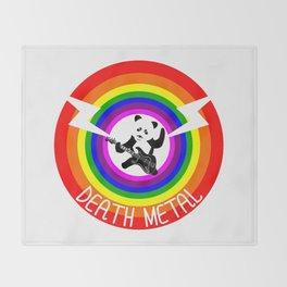 Death Metal Panda Throw Blanket