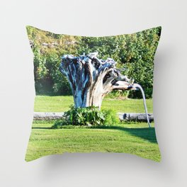Stumpy and the Raspberries Throw Pillow