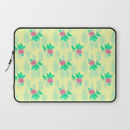 Roses on Yellow Laptop Sleeve