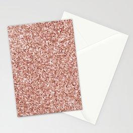 Blush Pink Glitter Stationery Cards