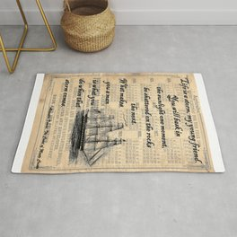 Count of Monte Cristo quote Rug