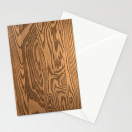 Wood 5, heavily grained wood Horizontal grain Stationery Cards