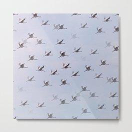 Cranes in Flight II #decor #society6 #buyart Metal Print