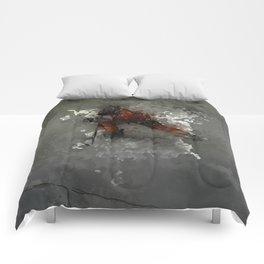On Ice - Ice Hockey Player Modern Art Comforters
