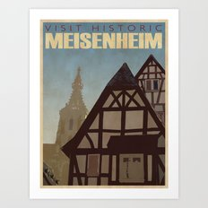 Vintage Travel Poster n°1 Art Print