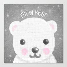 Snow Bear Canvas Print
