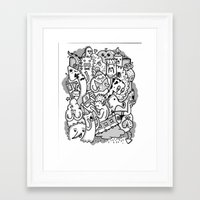 family Framed Art Prints featuring family by ybalasiano