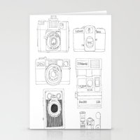 cameras Stationery Cards featuring cameras by steffaloo