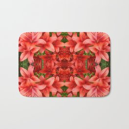 """A Gathering of Lilies"" Remix - 5 (3-1) [D4471~15] Bath Mat"