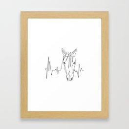 Horsebeat [Black] Framed Art Print