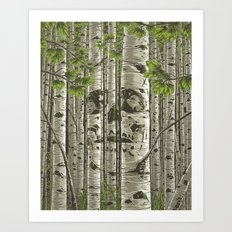 Aspens - Green Art Print