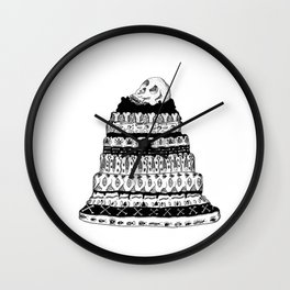 Death Cake Wall Clock