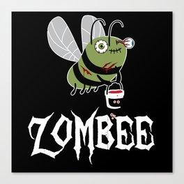Zombie Zombee Zombie Apocalypse Halloween Costume Canvas Print