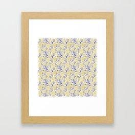 Japanese Inspired Floral Patterb Framed Art Print