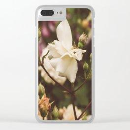 A vintage garden Clear iPhone Case