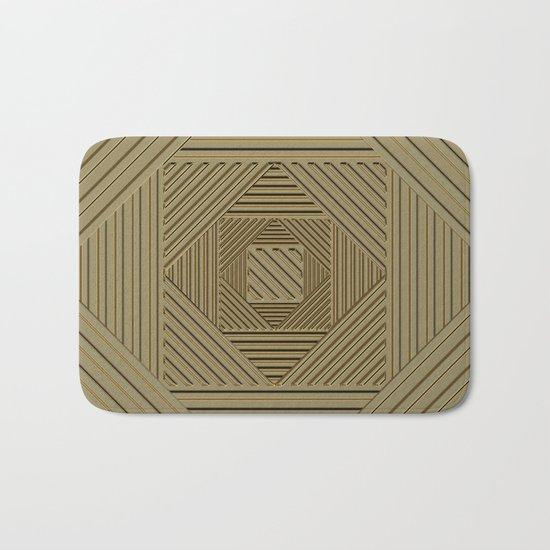 Golden Maze Bath Mat