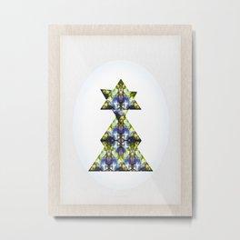 Symmetrical Triangle Creature Metal Print