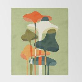 Little mushroom Throw Blanket