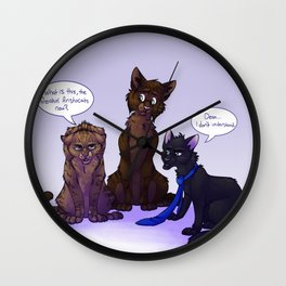Supernatural Cats Wall Clock