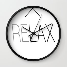 Relax Lacrosse LAX Wall Clock