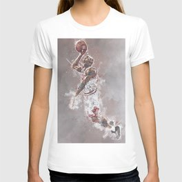 basketball player art T-shirt