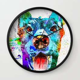 Doberman Pinscher Grunge Wall Clock
