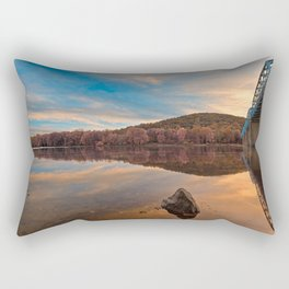 Point of Rocks Sunset - Pastel Fantasy Rectangular Pillow