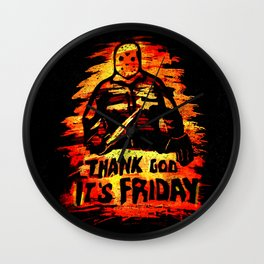 Jason Voorhees TGIF - Thank God its Friday the 13th  Wall Clock