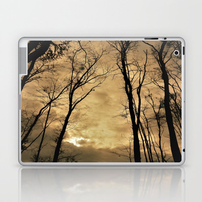 snow clouds above the wood Laptop & iPad Skin