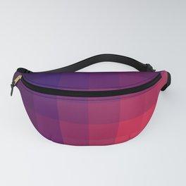 Pink Color Gradint Pattern Valravn Fanny Pack