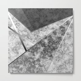 Combined abstract pattern in black and white . Metal Print