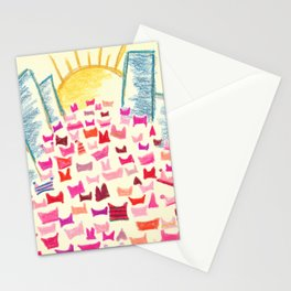 Pink Hats March for Equality Stationery Cards