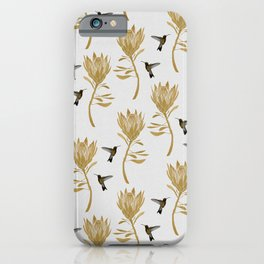 Hummingbird & Flower I iPhone Case