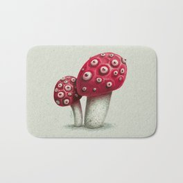 Mushroom Amanita Bath Mat
