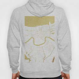 New Orleans White and Gold Map Hoody