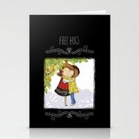 hug Stationery Cards featuring Hug by Rita Correia Illustrator