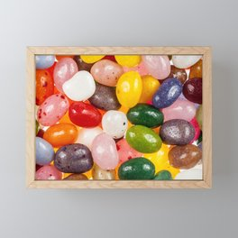 Cool colorful sweet Easter Jelly Beans Candy Framed Mini Art Print