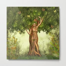 Mother Nature Tree Metal Print