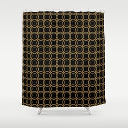 Links, Blk/Gld Shower Curtain