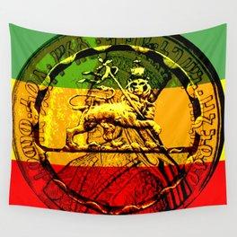 Lion of Judah Haile Selassie King of Kings Wall Tapestry