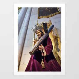 Statue of Jesus Christ in Catholic cathedral Art Print