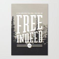 Free Indeed - Photo Canvas Print