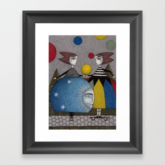 Ball Game Framed Art Print