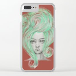 Green wig Clear iPhone Case