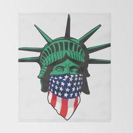 Statue of Liberty USA Throw Blanket