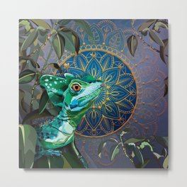 Basilisk Lizard Metal Print