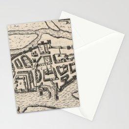 Vintage Map of Limerick Ireland (1618) Stationery Cards