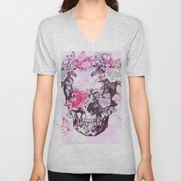 elegant skull Unisex V-Neck