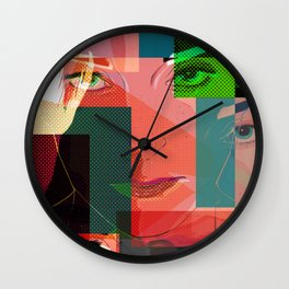 Eyes Pop art Wall Clock
